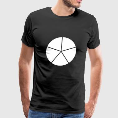 Cake Geometry Present Art Design White - Men's Premium T-Shirt