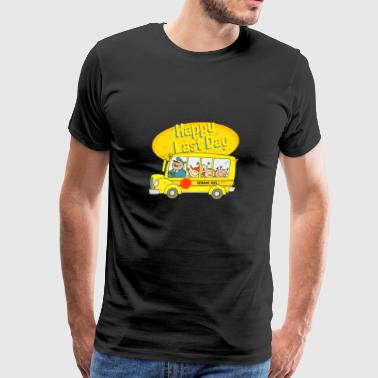 Happy Last Day School Bus T-shirt - Men's Premium T-Shirt