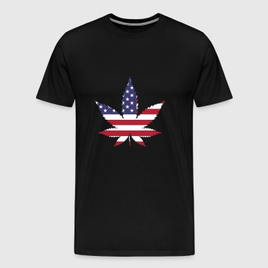 USA FLAG MARIJUANA - Men's Premium T-Shirt