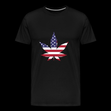 marijuana flag - Men's Premium T-Shirt