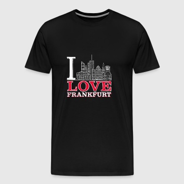 I Love Frankfurt - Men's Premium T-Shirt