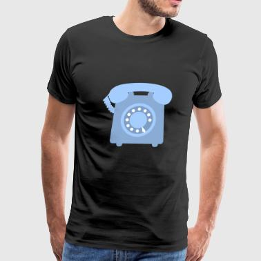 telephone telefon phone handy communication - Men's Premium T-Shirt
