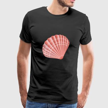 Sea Shell vector image cool art sealife awesome - Men's Premium T-Shirt