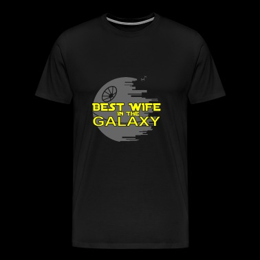 Wife Wife The best wife in the galaxy - Men's Premium T-Shirt