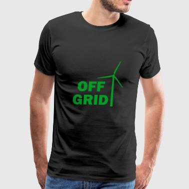 Off Grid in Green - Men's Premium T-Shirt