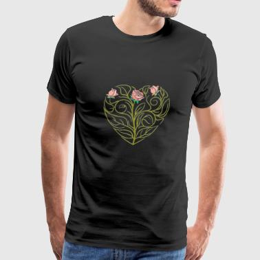 Roses art Drawing - Men's Premium T-Shirt