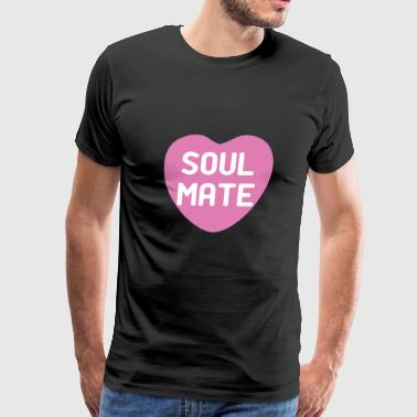 Soul Mate Hot Pink Candy Heart - Men's Premium T-Shirt