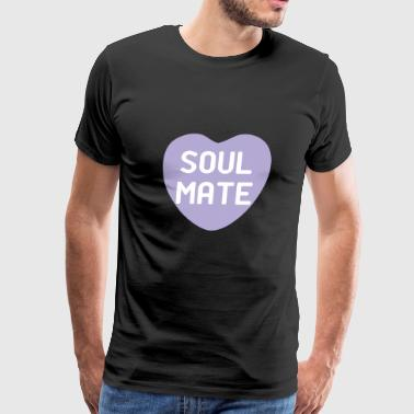 Soul Mate Purple Candy Heart - Men's Premium T-Shirt