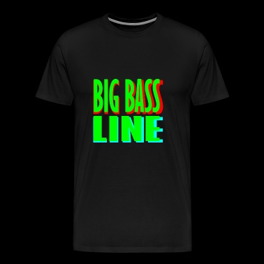 big bass line line - Men's Premium T-Shirt