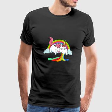 Puking Unicorn Rainbow - Men's Premium T-Shirt