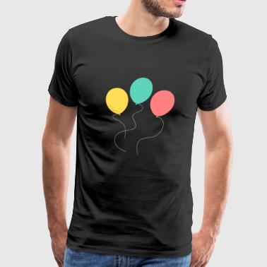 A balloon, two balloons, three balloons! - Men's Premium T-Shirt