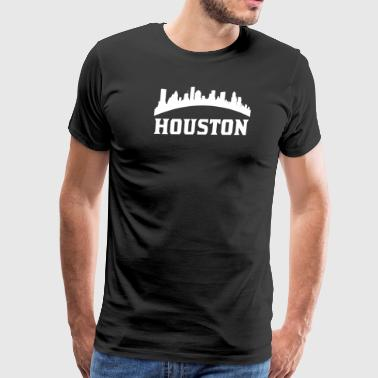 Vintage Style Skyline Of Houston TX - Men's Premium T-Shirt