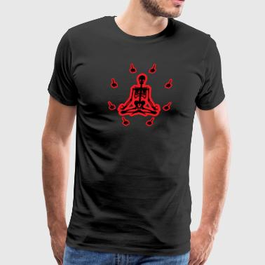 Meditation Fingers (Black And Red) - Men's Premium T-Shirt