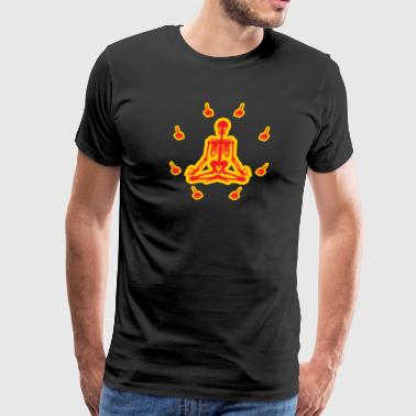 Meditation Fingers (Red And Gold) - Men's Premium T-Shirt