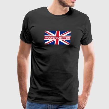 Wolverhampton Shirt Vintage United Kingdom Flag - Men's Premium T-Shirt