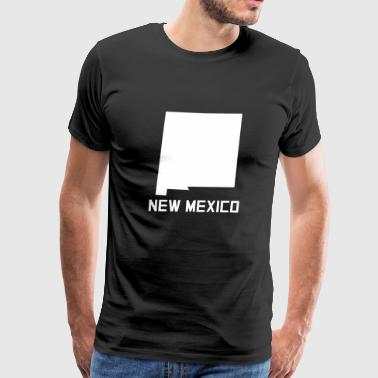 New Mexico State Silhouette - Men's Premium T-Shirt