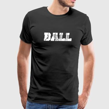 Ball Basketball Player Silhouettes Basketball - Men's Premium T-Shirt