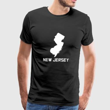 New Jersey State Silhouette - Men's Premium T-Shirt
