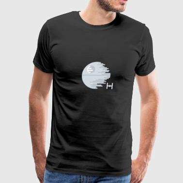 Death Star Simple Abstract Illustration - Men's Premium T-Shirt