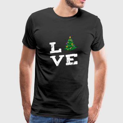 Holiday tree with gifts Christmas Santa Claus love - Men's Premium T-Shirt