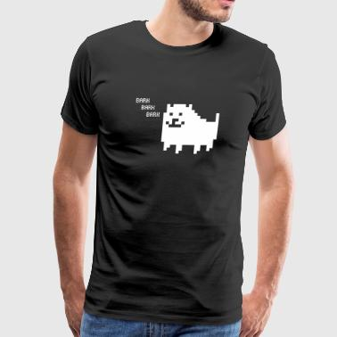 Annoying Dog Hang in There - Men's Premium T-Shirt