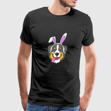 Bernese Mountain Dog Happy Easter Bunny Gift - Men's Premium T-Shirt
