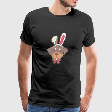 Rottweiler dog Happy Easter Bunny Gift - Men's Premium T-Shirt