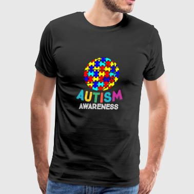 Autism Awareness Basketball - Men's Premium T-Shirt