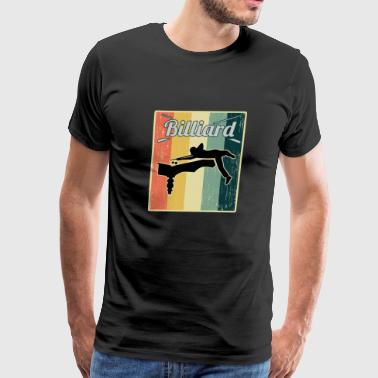 Vintage Retro Old School Billiard - Men's Premium T-Shirt
