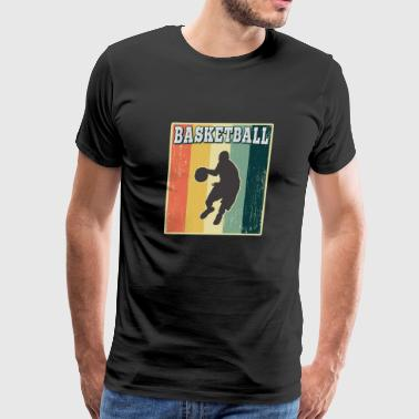 Vintage Retro Old School Basketball - Men's Premium T-Shirt