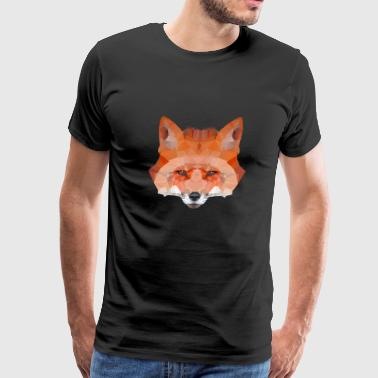Low Poly Fox Red Design - Men's Premium T-Shirt