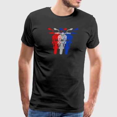 three overlapping superbikes - Men's Premium T-Shirt