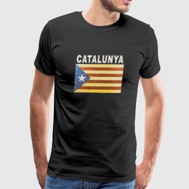 Catalunya Flag Independent Catalonia Distressed - Men's Premium T-Shirt