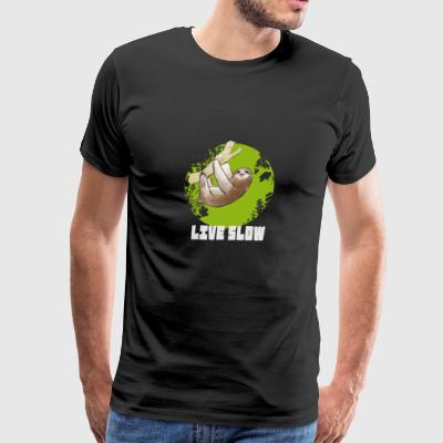 Sloth animal live slow nerd - Men's Premium T-Shirt