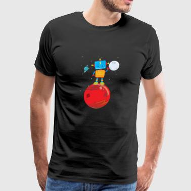 Outer Space Robot on Mars - Men's Premium T-Shirt