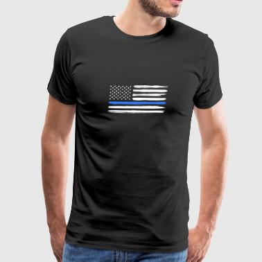 Thin Blue Line Police Officer Support Cop - Men's Premium T-Shirt