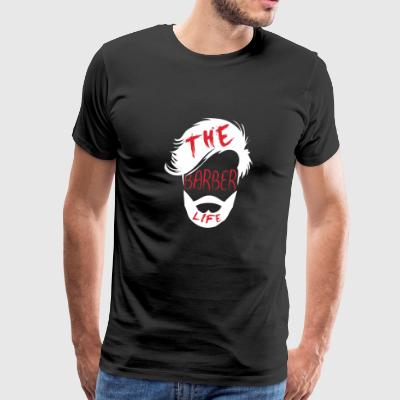 Shirt for Barber as a gift - The barber life - Men's Premium T-Shirt