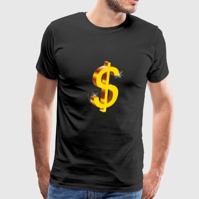 dollar sign gold swag rap gang hip-hop money rich - Men's Premium T-Shirt