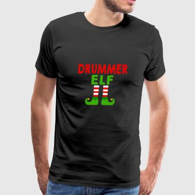 Drummer Elf shirt - Drummer Elf Christmas gifts - Men's Premium T-Shirt