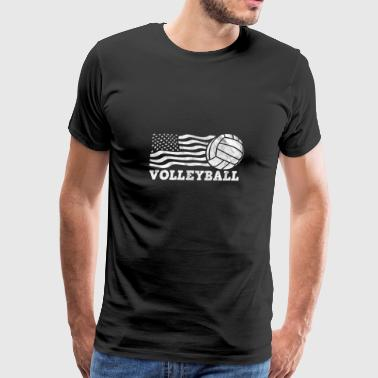 Shirt for volleyball player as a gift - Flag - Men's Premium T-Shirt