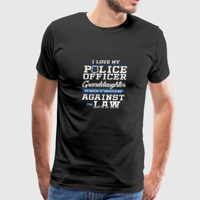 Love Police Granddaughter Law Enforcement Apparel - Men's Premium T-Shirt