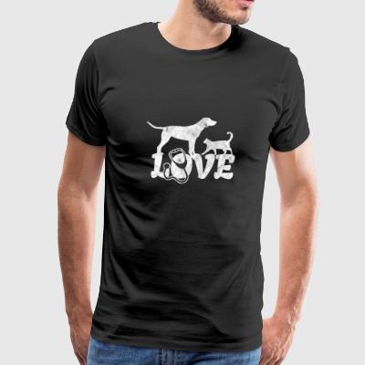 Love veterinarian shirt with dog and cat as a gift - Men's Premium T-Shirt