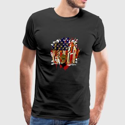 Disc Golf USA Flag - Disc Golf Gift Idea - Men's Premium T-Shirt