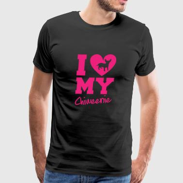 I Love My Chiweenie - Men's Premium T-Shirt