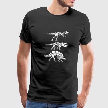 dinosaur skeleton - Men's Premium T-Shirt