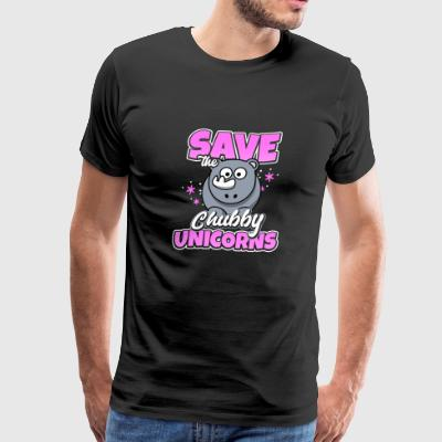Shirt for lovers of chubby unicorns as a gift - Men's Premium T-Shirt