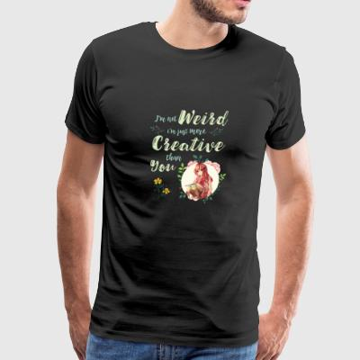 I'm Not Weird I'm Creative Anime Inspirational - Men's Premium T-Shirt