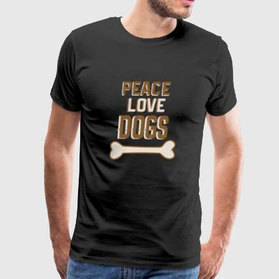 peace love dogs - Men's Premium T-Shirt
