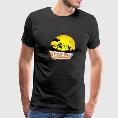 Horse & Witch Gift - Brooms are for Amateurs - Men's Premium T-Shirt