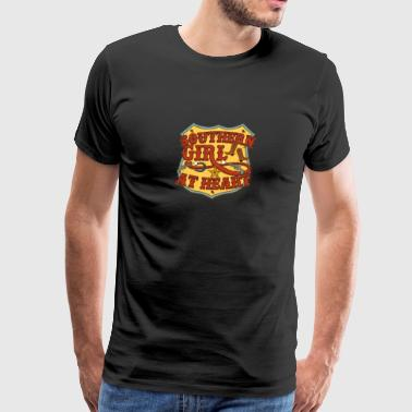 Southern Girl At Heart Country Alabama Louisiana - Men's Premium T-Shirt